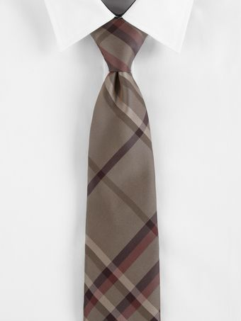 Burberry Taupe Brown Check Tie - Lyst