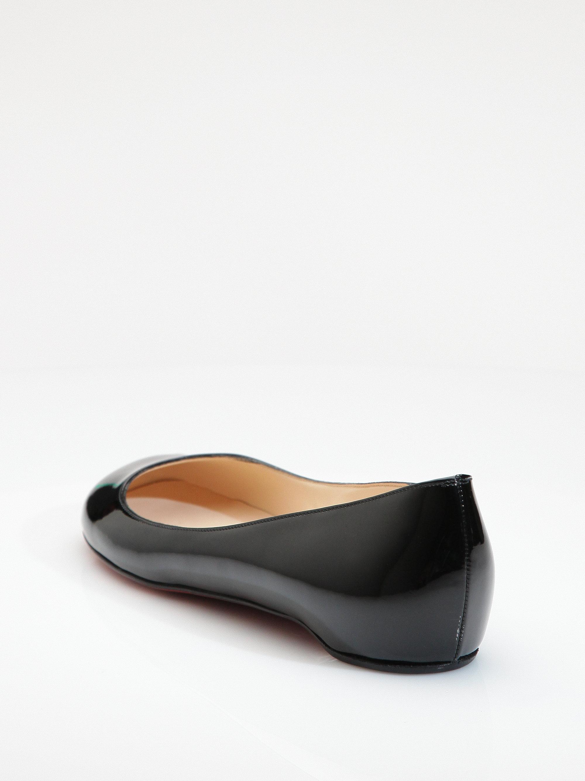98758aaea10e ... sale lyst christian louboutin kobe patent leather flats in black d5a8a  585ef