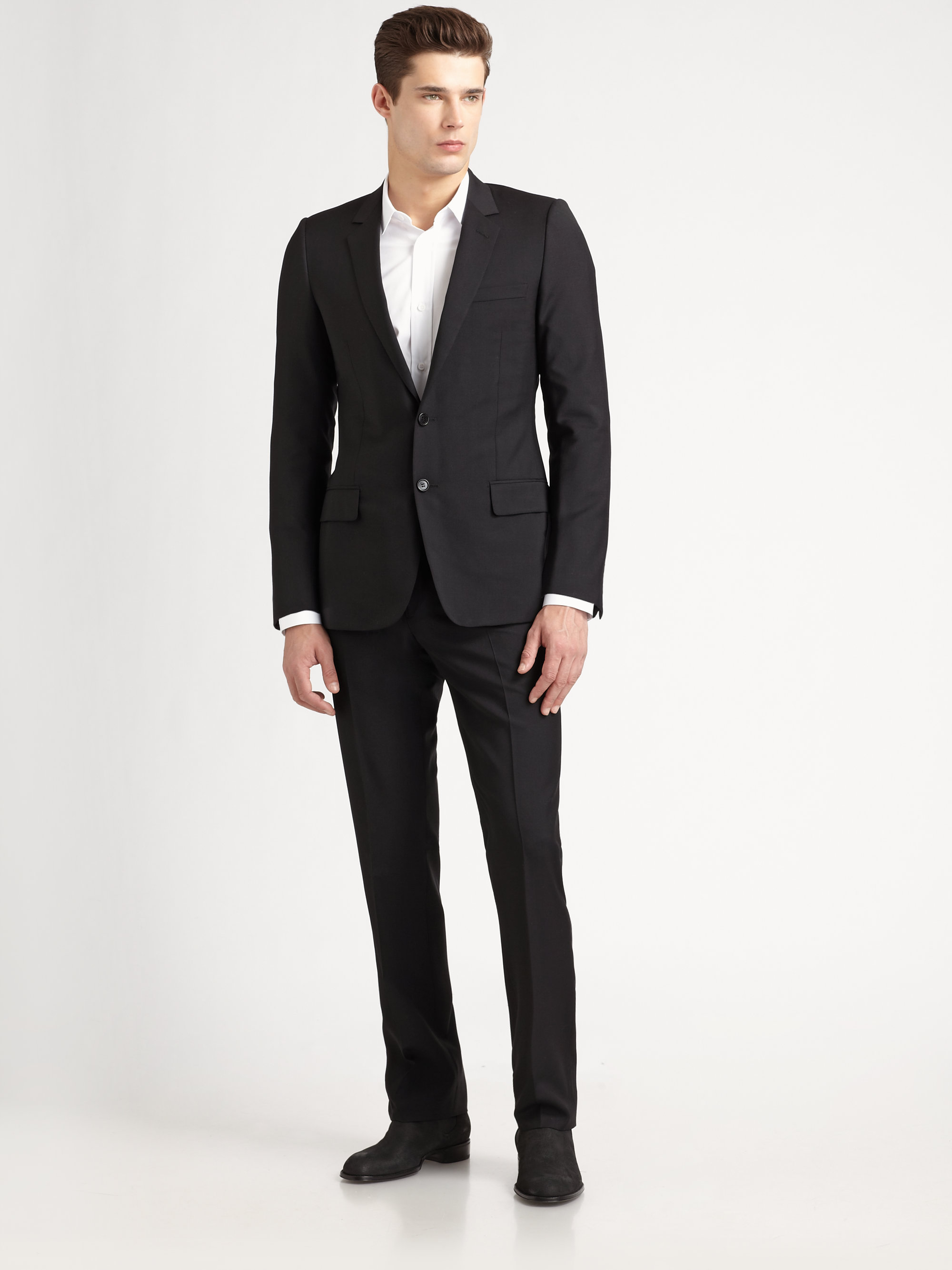 Lyst Dior Homme Classic Drop 10 Suit In Gray For Men