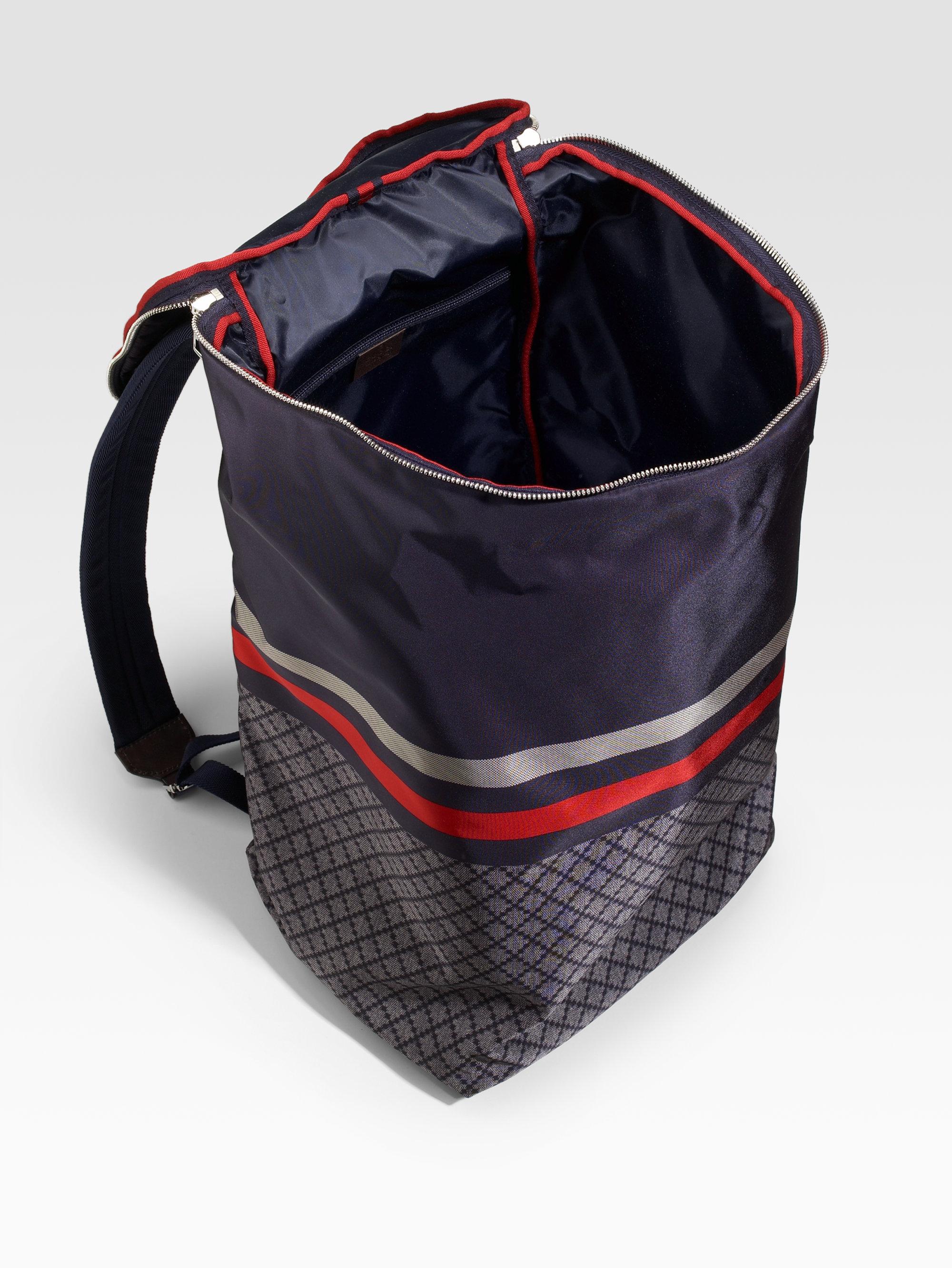 9e496e59a404ca Gucci Nylon Diamante Backpack in Black for Men - Lyst