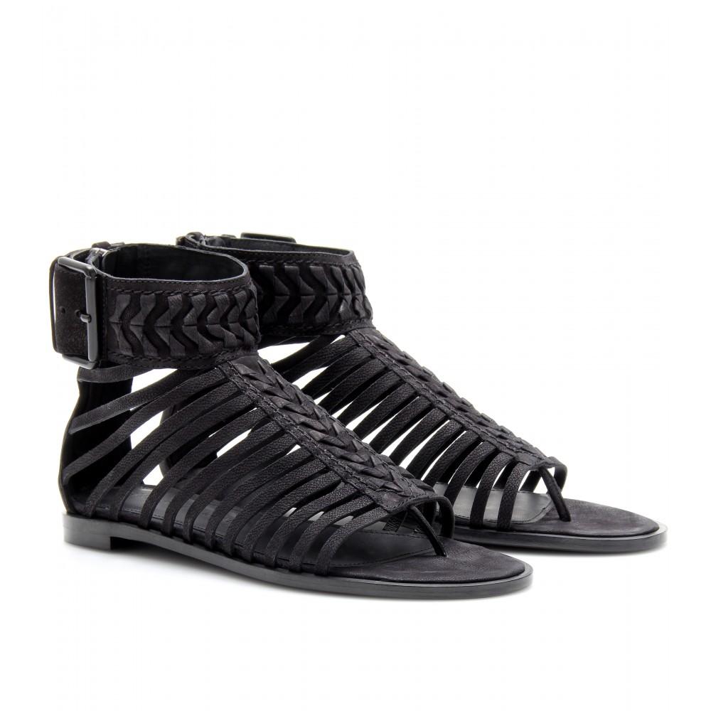 Haider Ackermann Leather Sandals In Black Lyst
