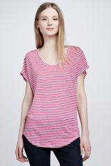Joie Maddie Striped Slub Top - Lyst
