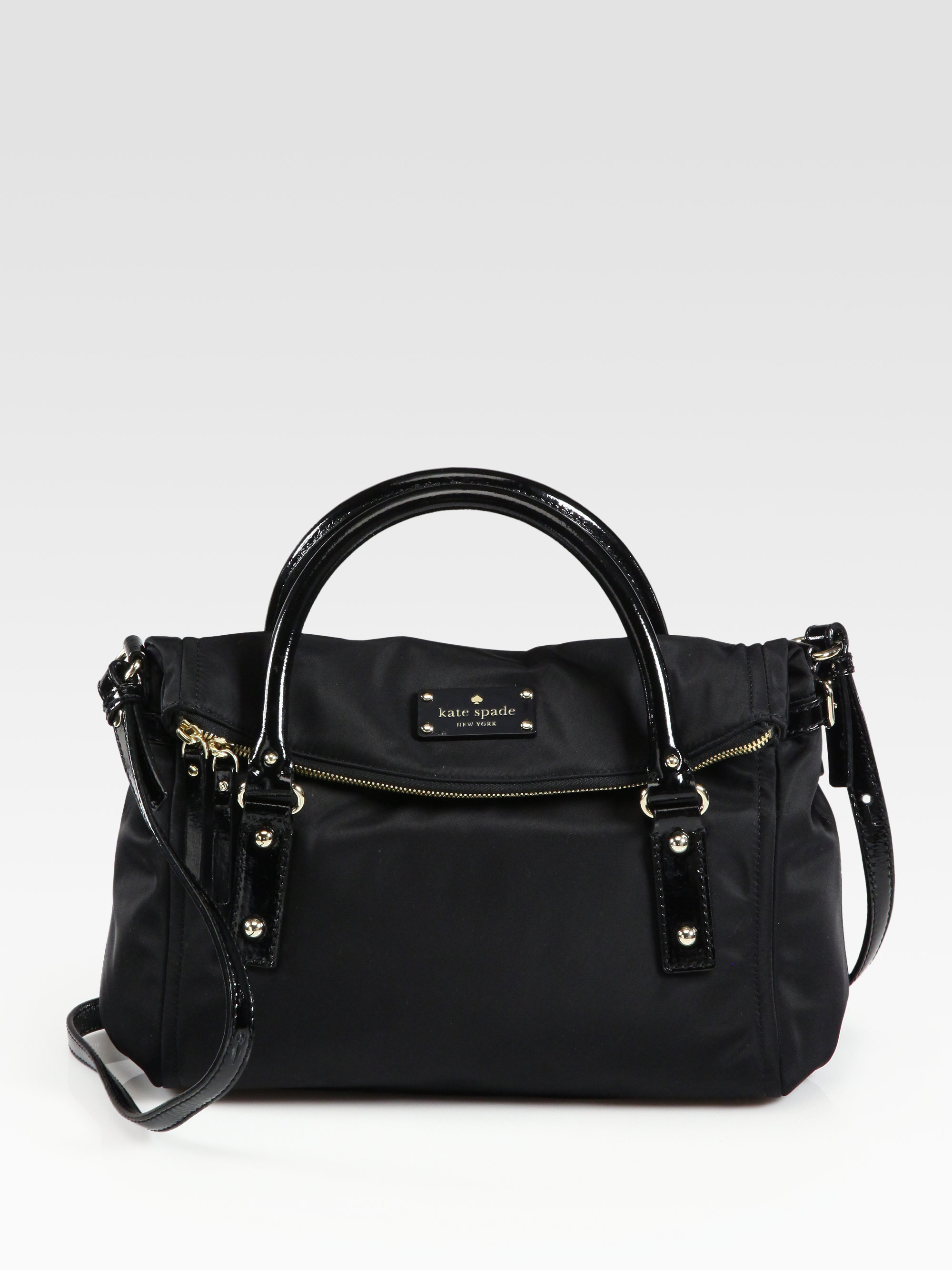 Lyst Kate Spade New York Small Leslie Foldover Nylon