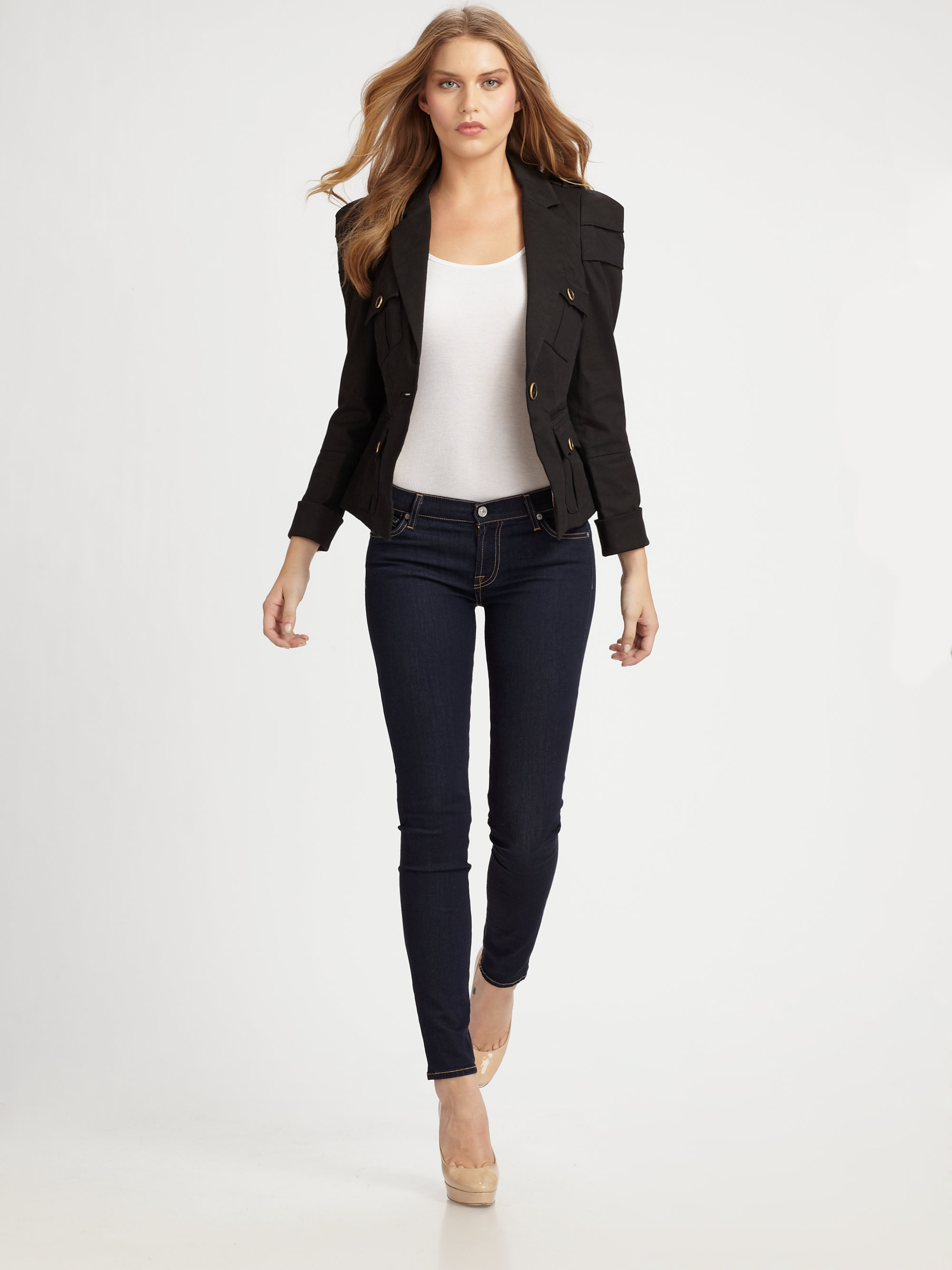 Leifsdottir Casual Cotton Blazer In Black | Lyst