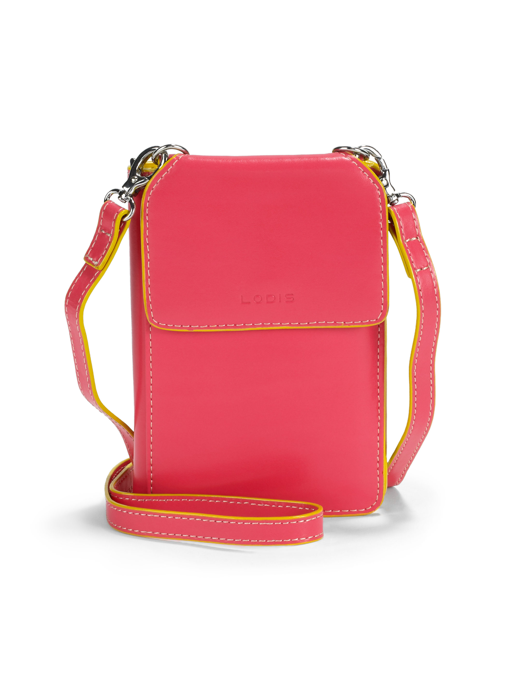 Lyst Lodis Audrey Olive Phone Crossbody Bag In Pink