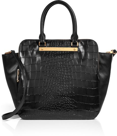 Marc By Marc Jacobs Embossed Leather Bentley Bag In Black