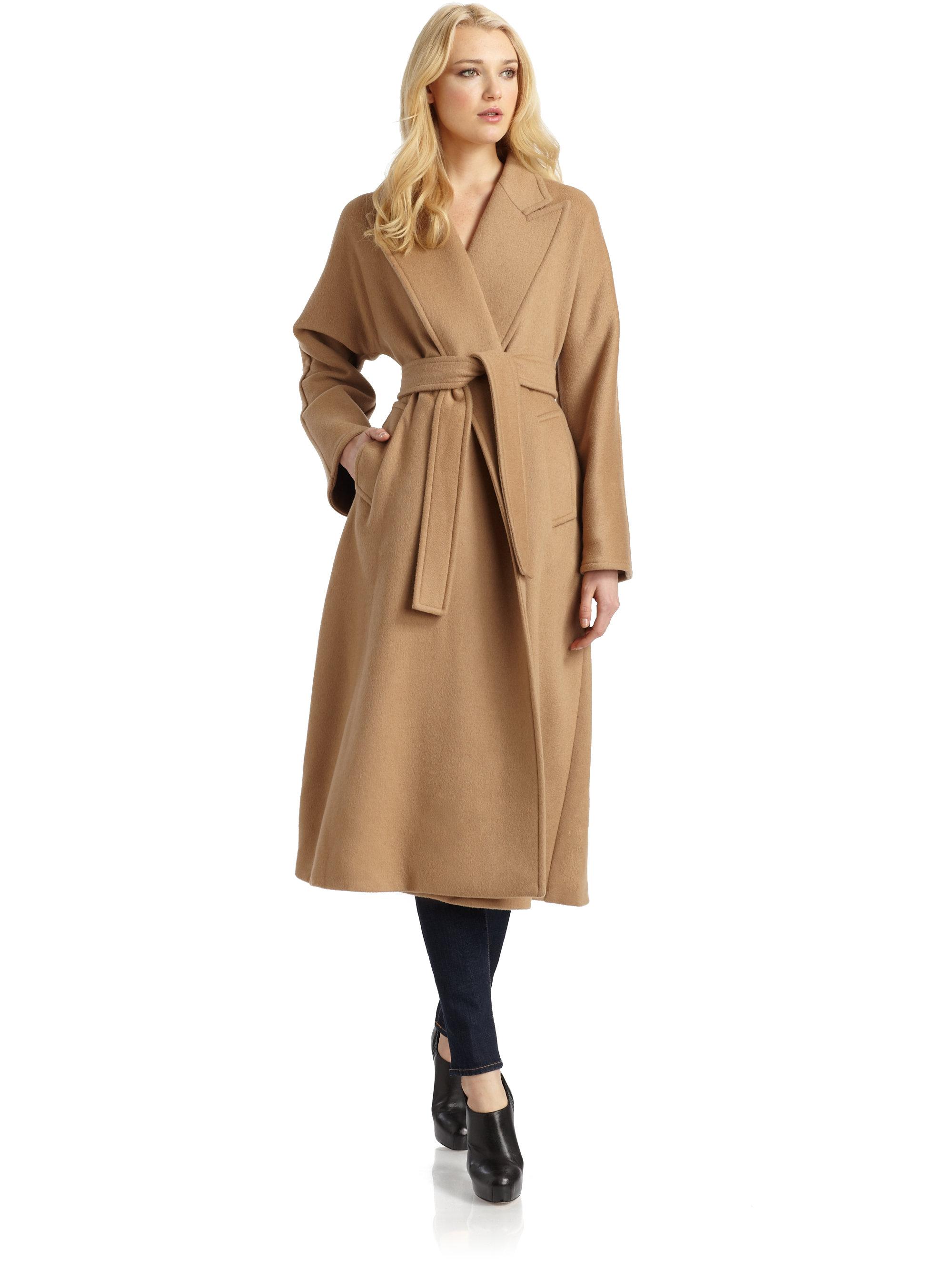 Camel hair coat women