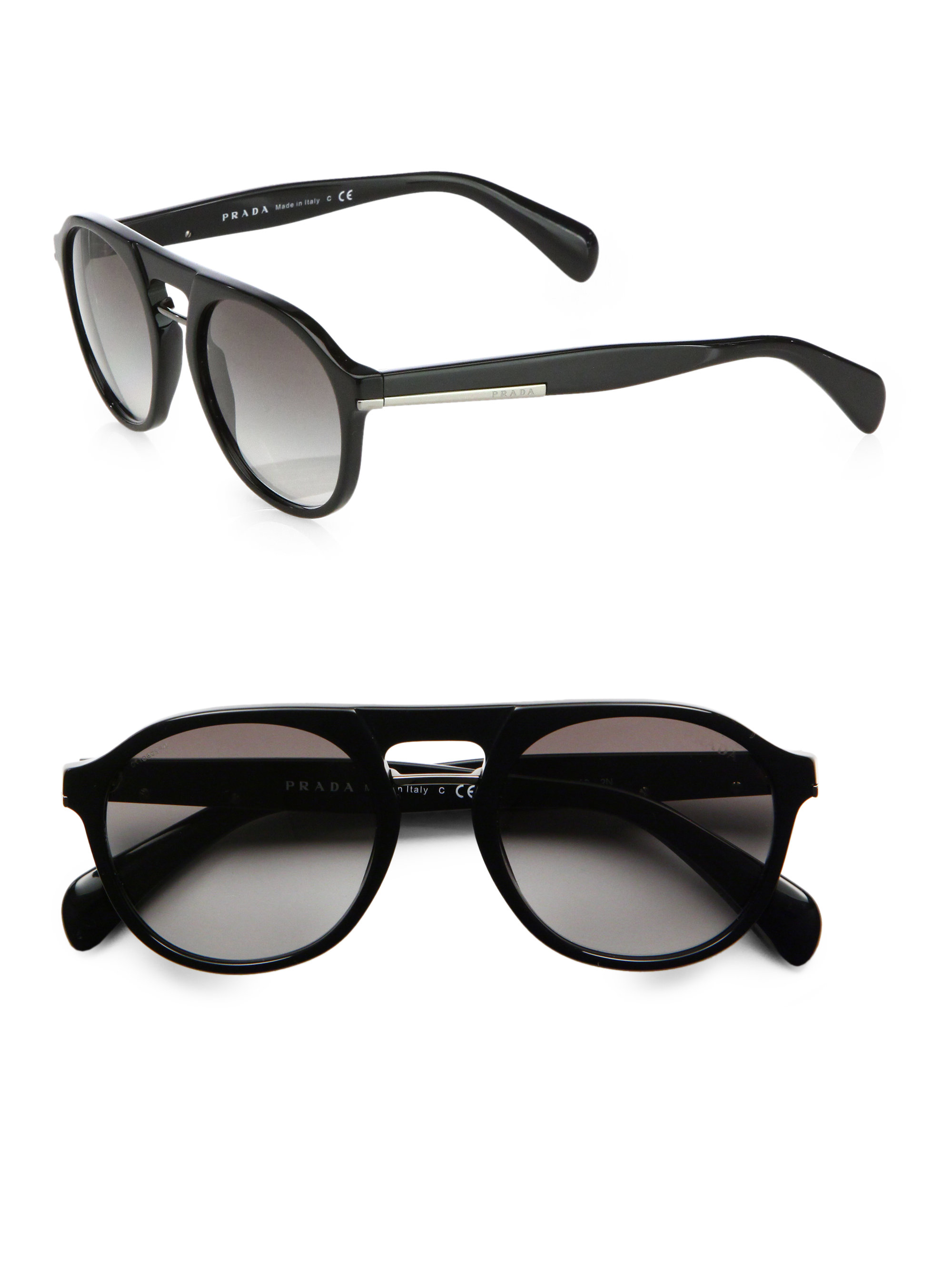 2c9ca277a315 ... france prada plastic keyhole sunglasses in black for men lyst 29a0b  68fa0