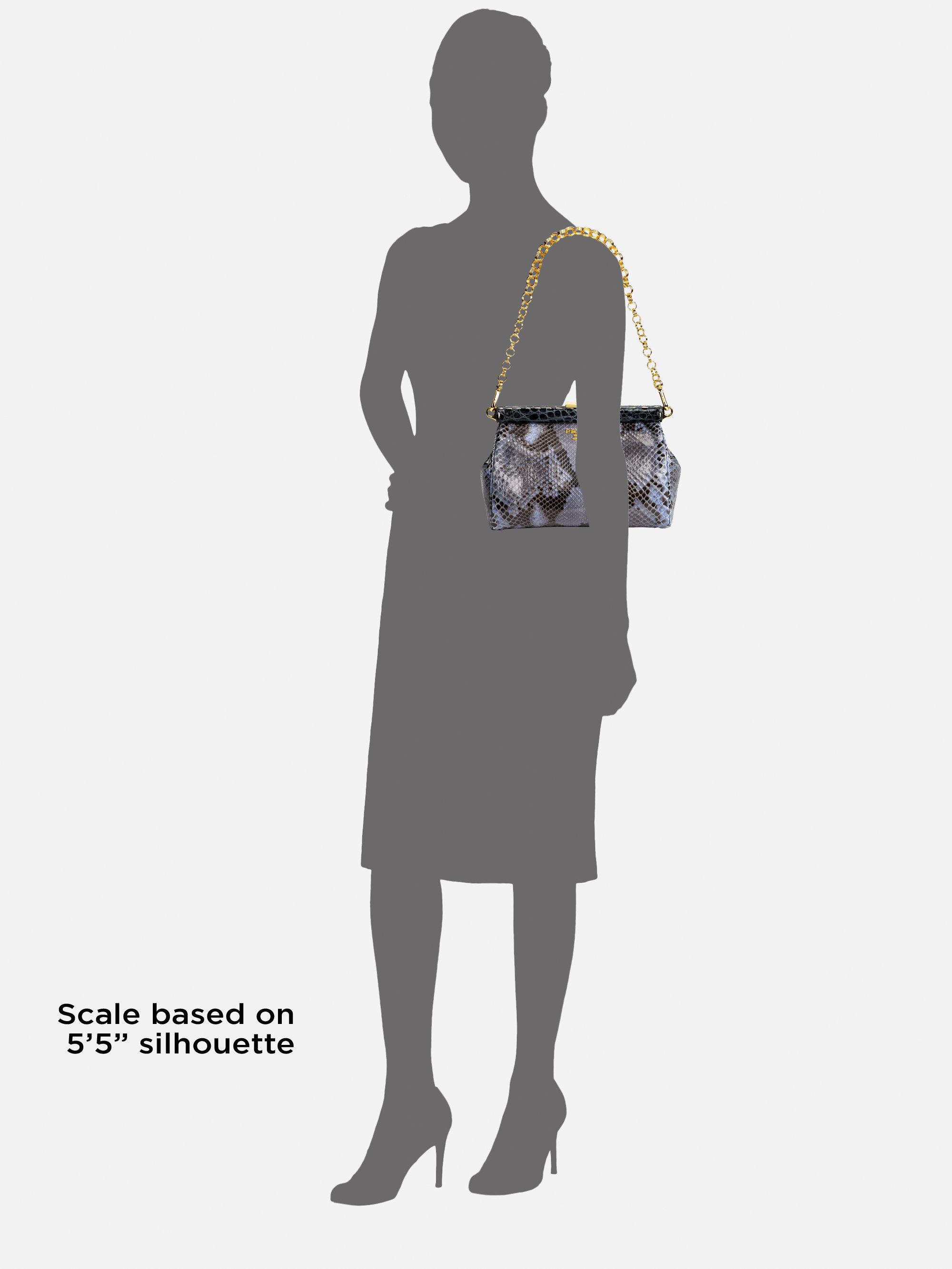 prada new season handbags - Prada Frame python and crocodile leather bag