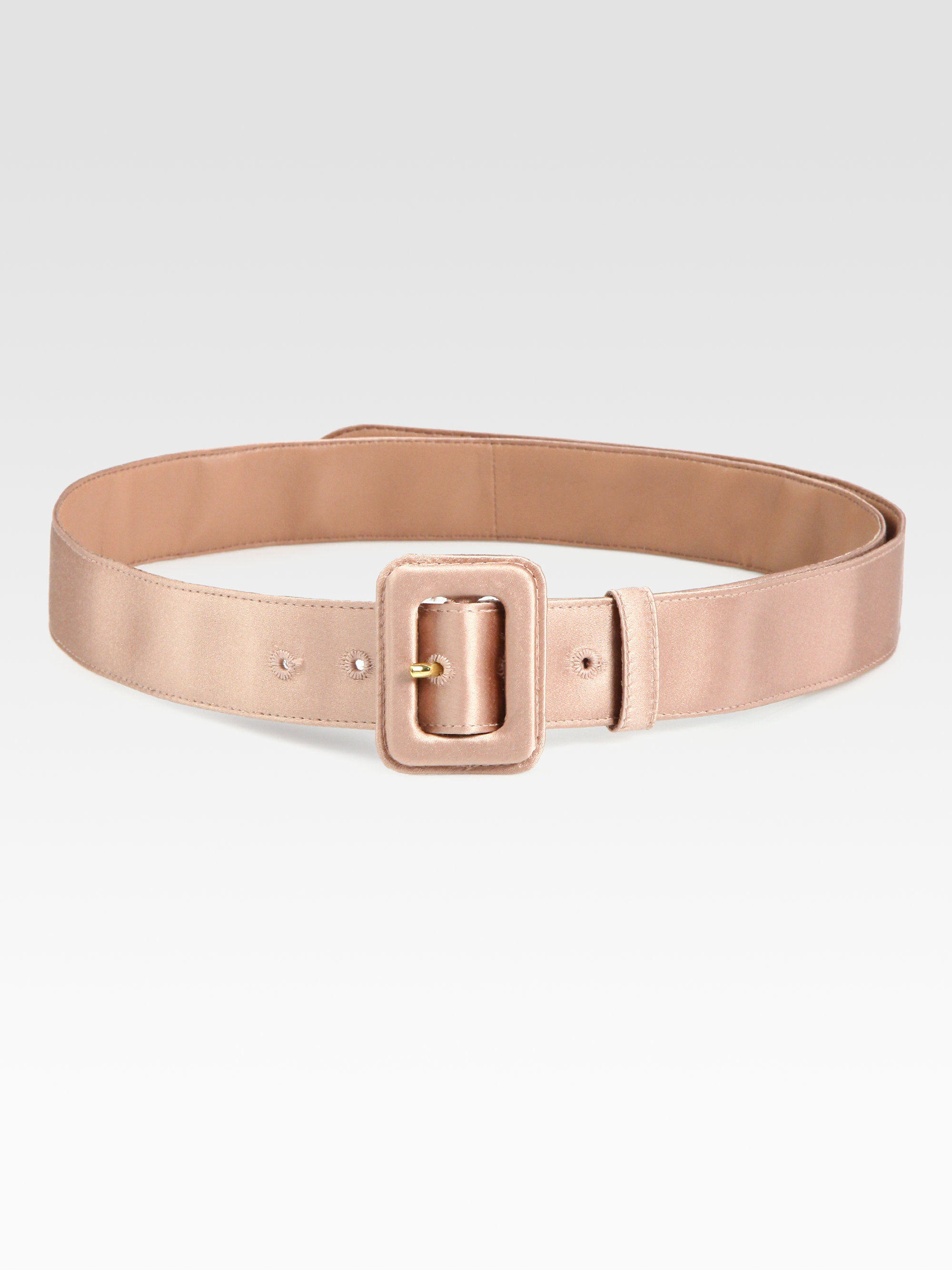 Prada Silk Belt in Beige | Lyst