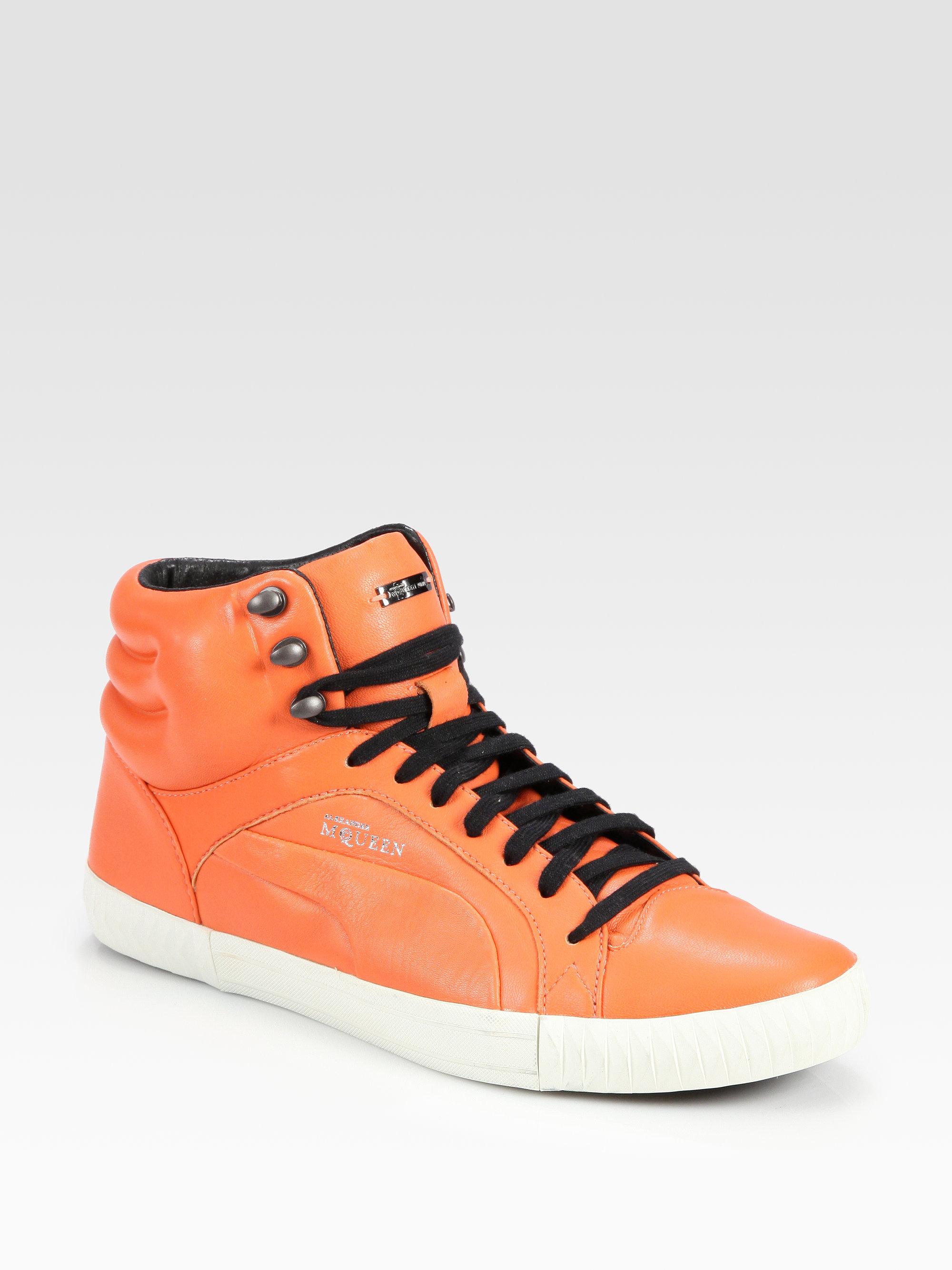 Lyst - Alexander McQueen X Puma Street Climb Mid-top Leather ... 877fffb6d