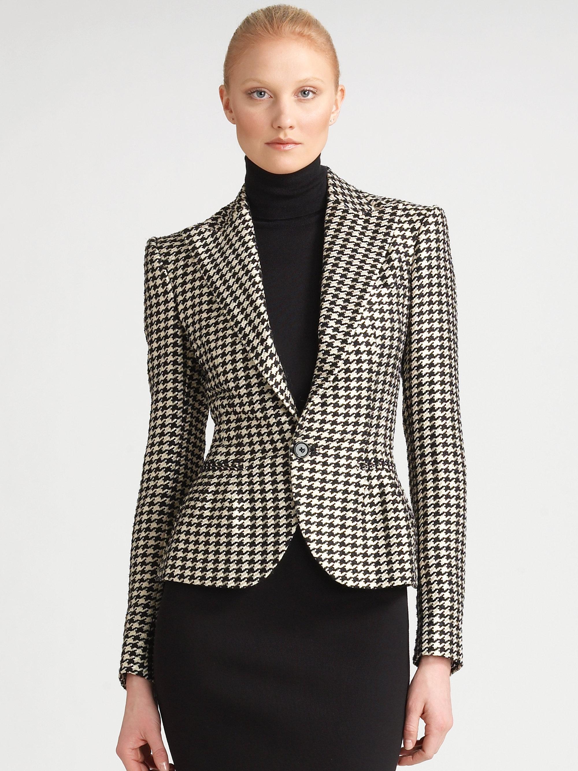 Houndstooth Jacket Women S