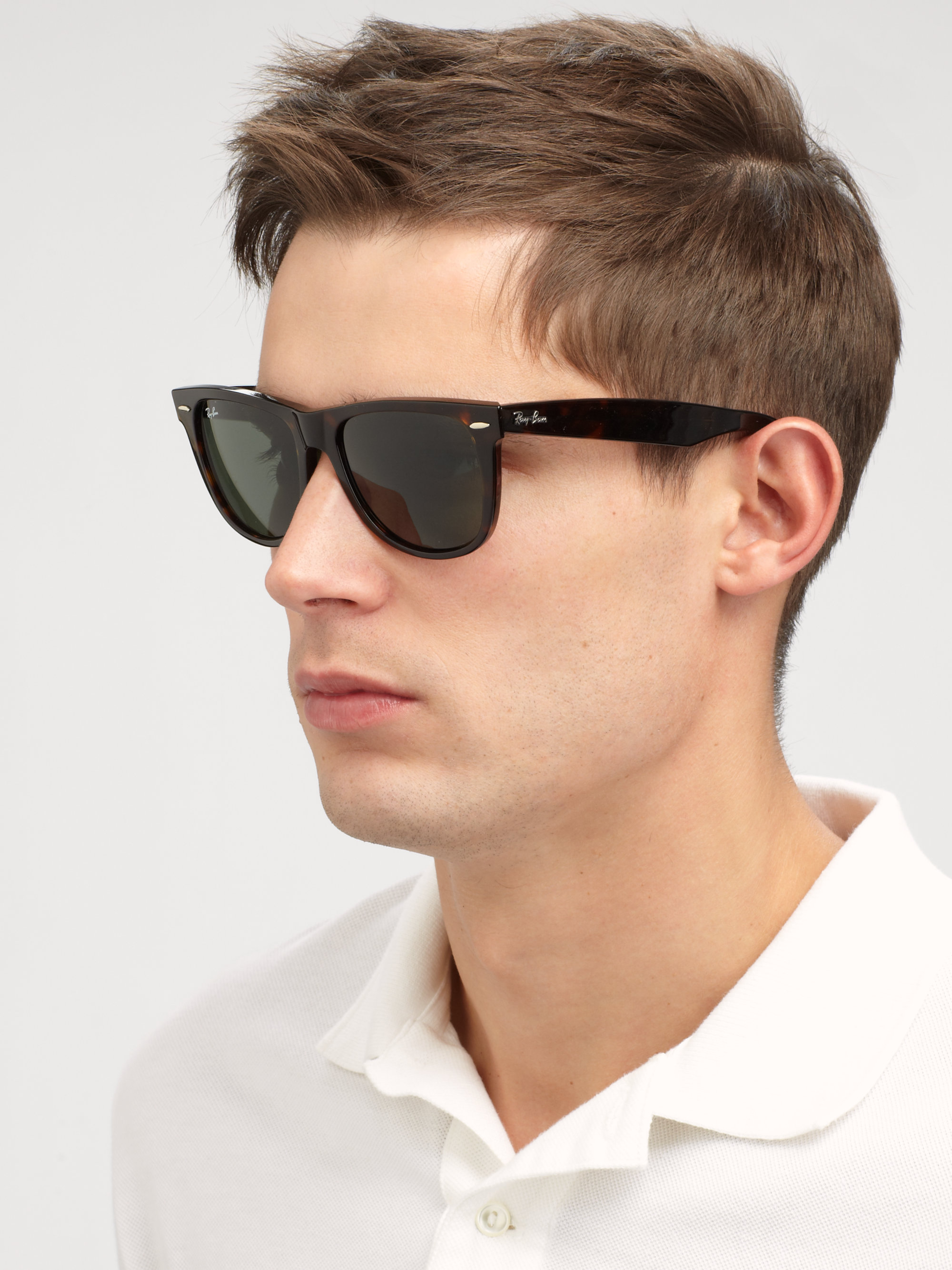 ray ban clubmaster classic tortoise  Ray-ban Classic Wayfarer Sunglasses in Black
