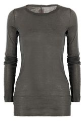 Rick Owens Cotton-jersey Top - Lyst