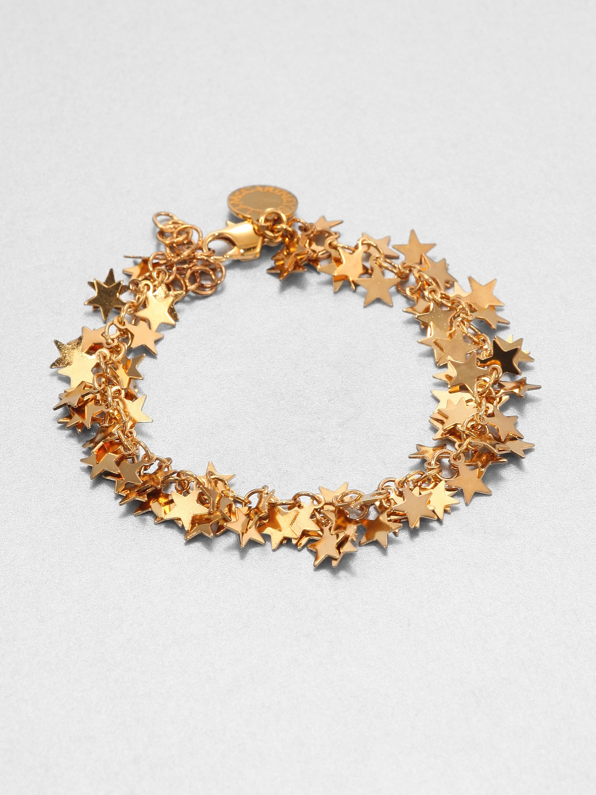 Lyst Stella Mccartney Star Charm Bracelet In Metallic