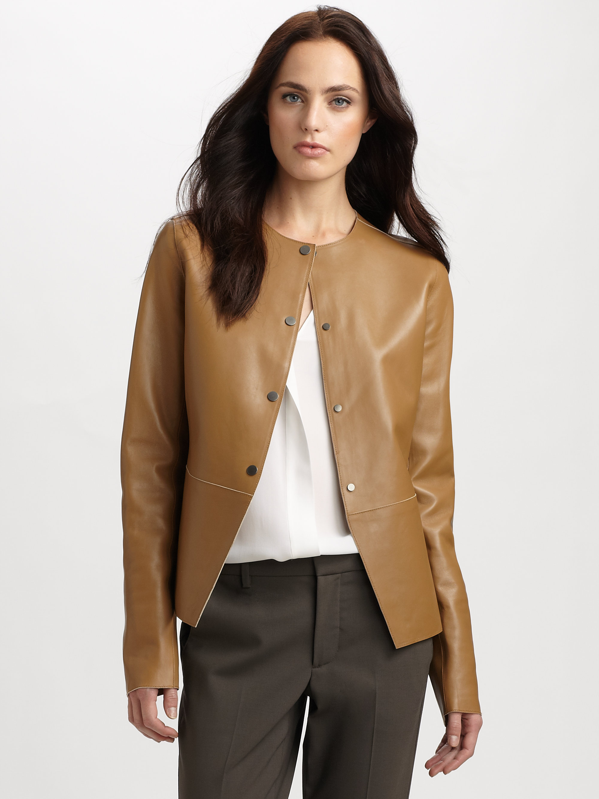Vince leather jackets on sale