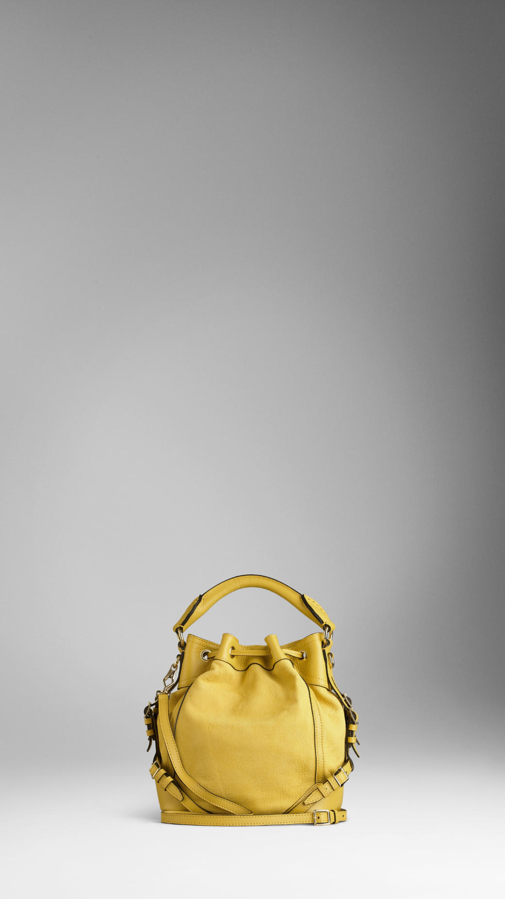 Lyst - Burberry Small Grainy Leather Crossbody Bag in Yellow ac7836f40505a