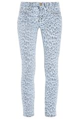 Current/Elliott Bleached Leopard Stiletto Jeans - Lyst