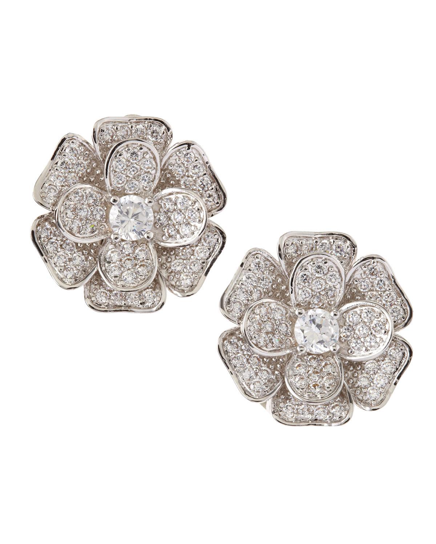 Kenneth Jay Lane Pink Flower Earrings Dzrwxolt