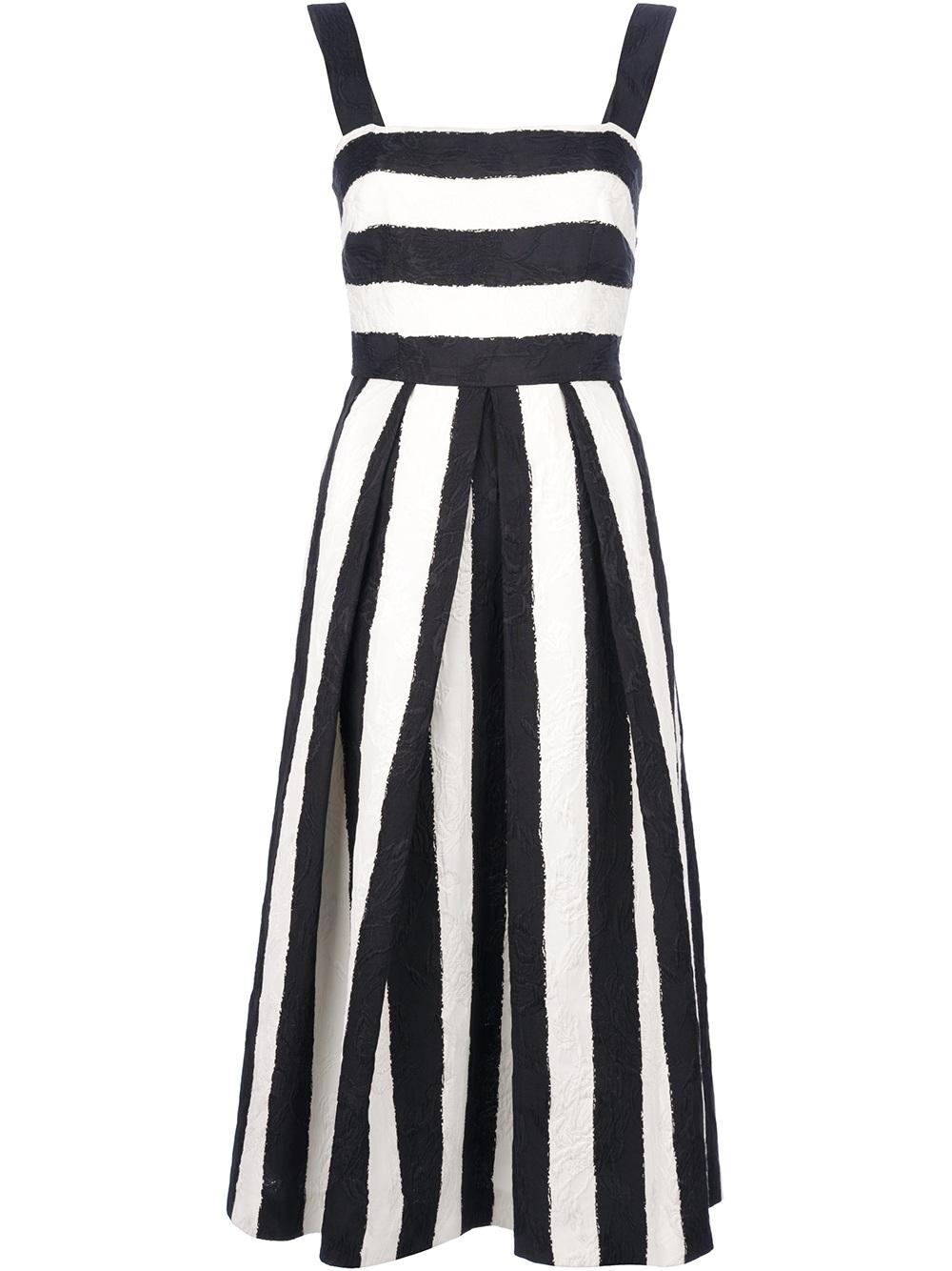 Lyst Dolce Amp Gabbana Striped Dress In White
