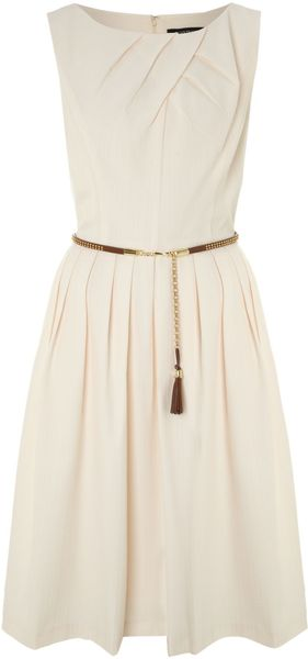 Ellen Tracy 50s Style Dress with Studded Belt - Lyst