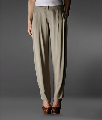 Emporio Armani Pants with Tucks - Lyst