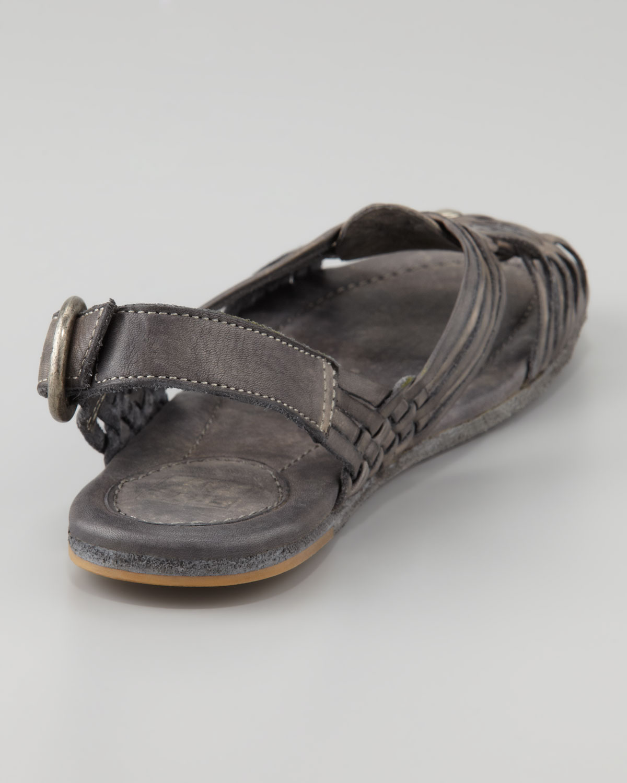 33c2c6ec6b63b Lyst - Frye Jacey Huarache Slingback Sandal in Gray
