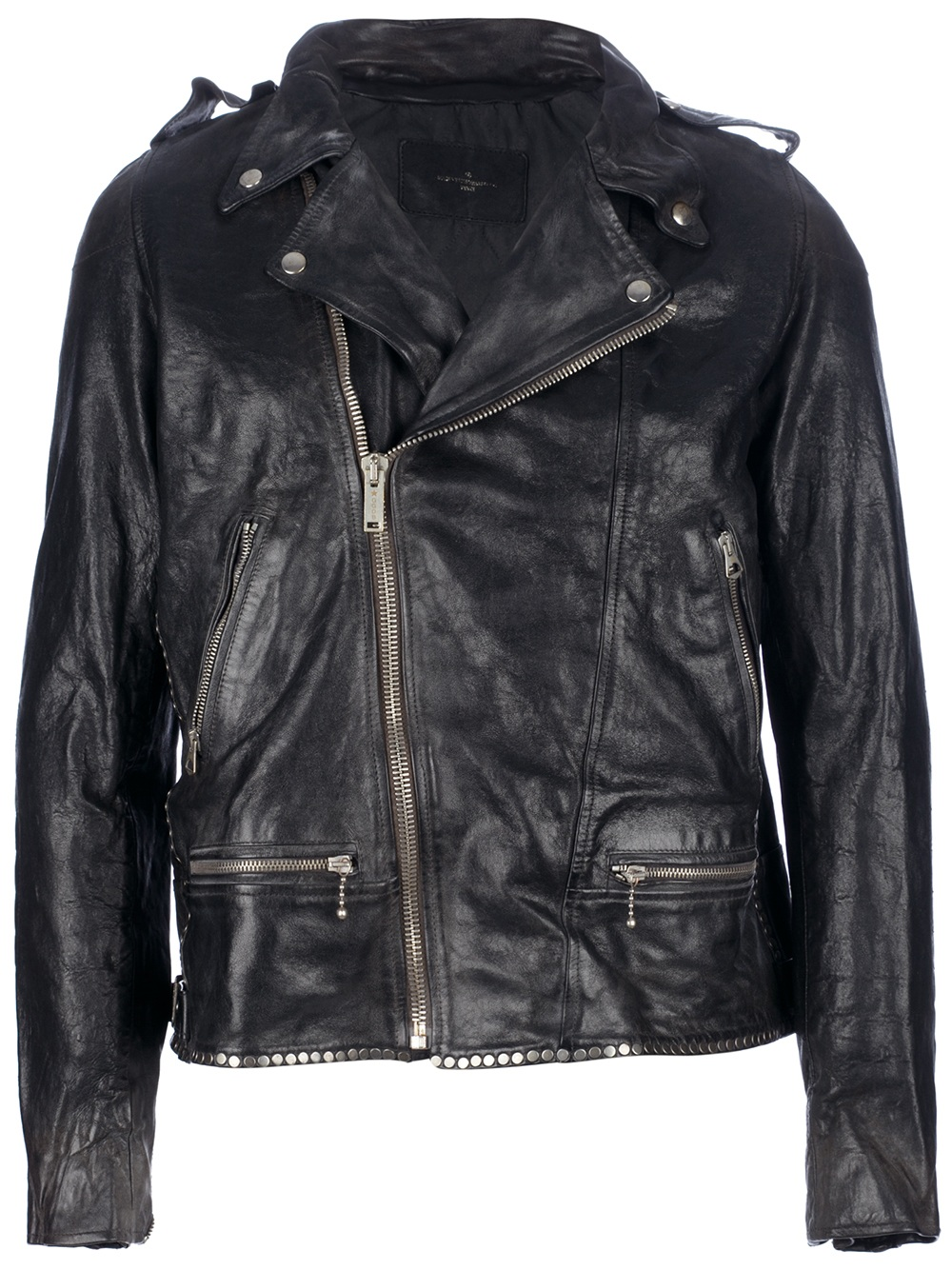golden goose deluxe brand studded biker jacket in black for men lyst. Black Bedroom Furniture Sets. Home Design Ideas