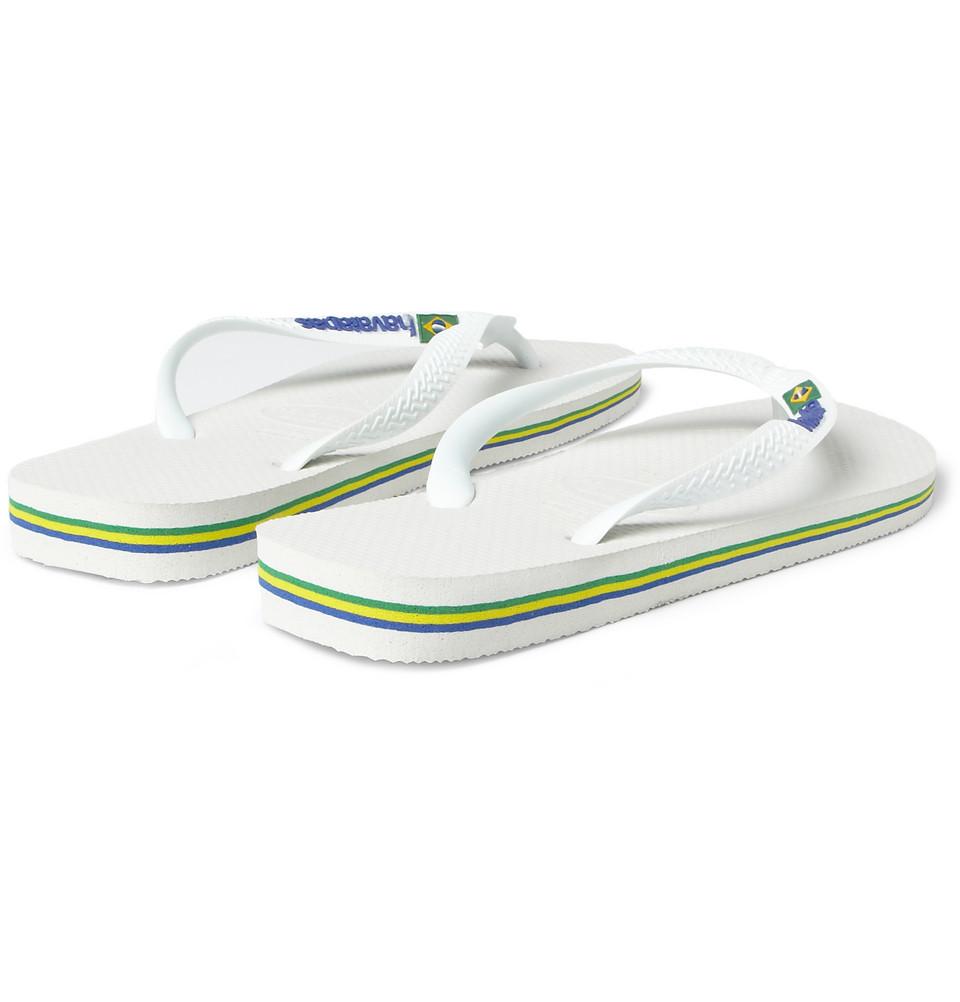 Lyst - Havaianas Rubber Flip Flops In White For Men-4656