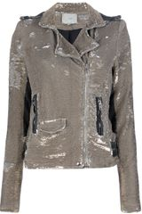 Iro Derick Sequined Biker Jacket