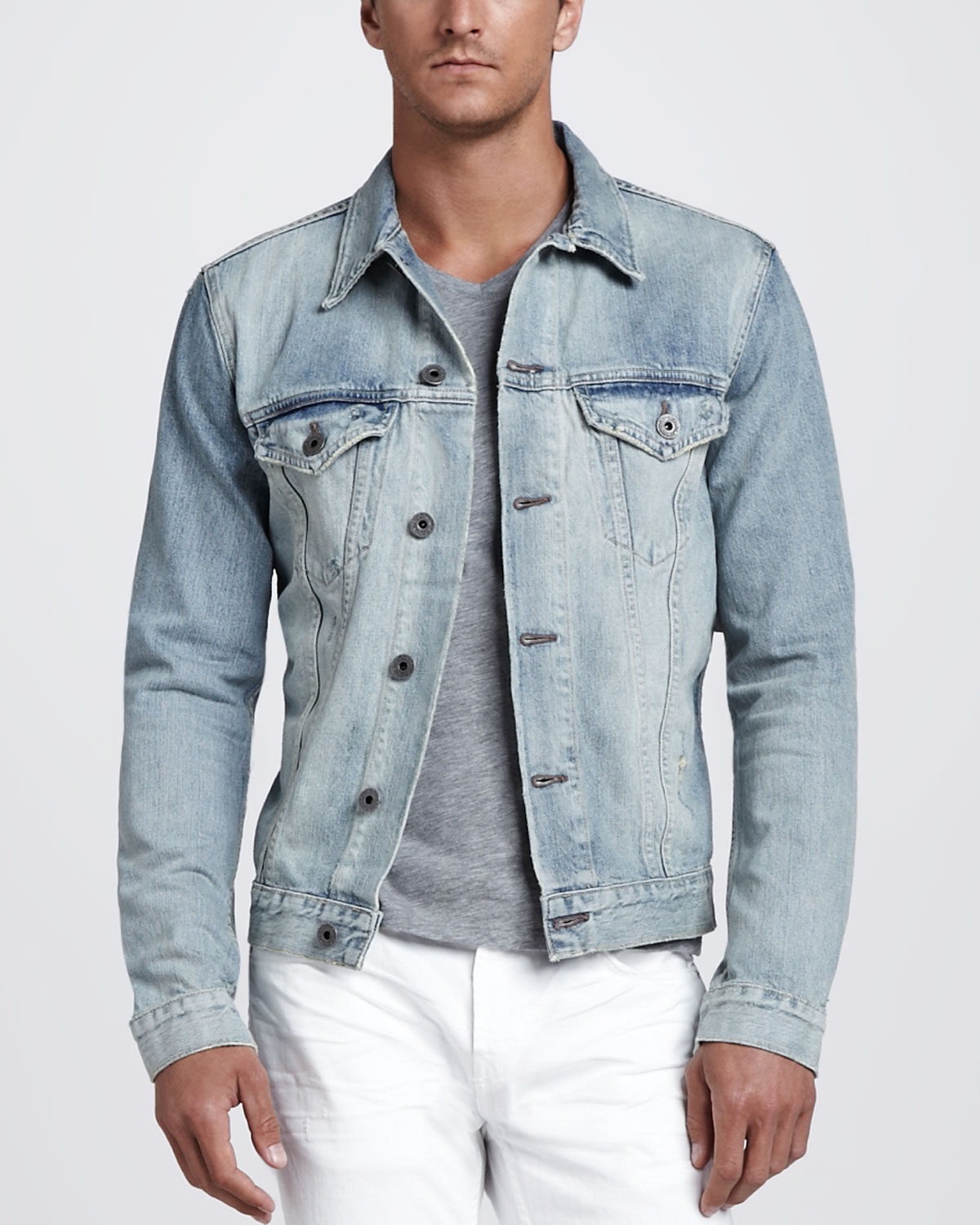 J Brand Owen Light Wash Denim Jacket In Blue For Men Lyst
