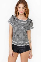 Nasty Gal Colette Twill Top - Lyst