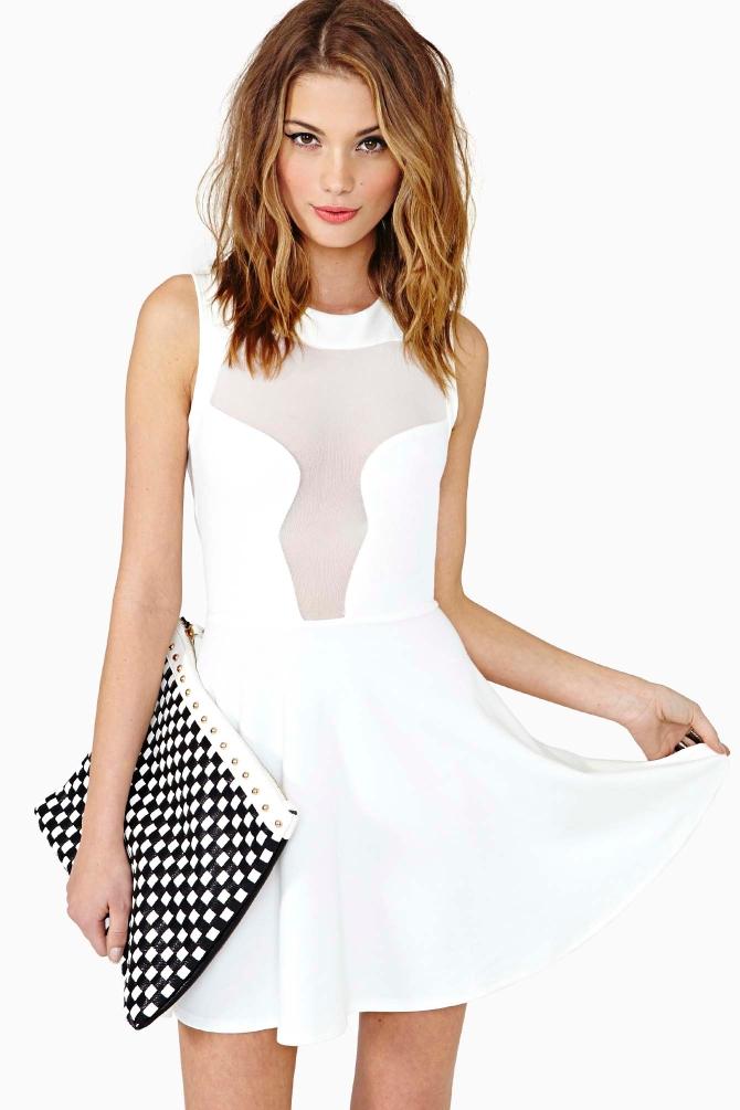 Lyst Nasty Gal Hot Ice Skater Dress In White
