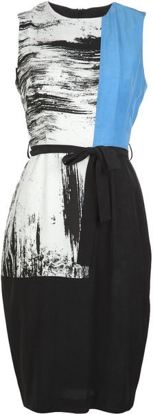 Obakki Sleeveless Tricolor Dress - Lyst