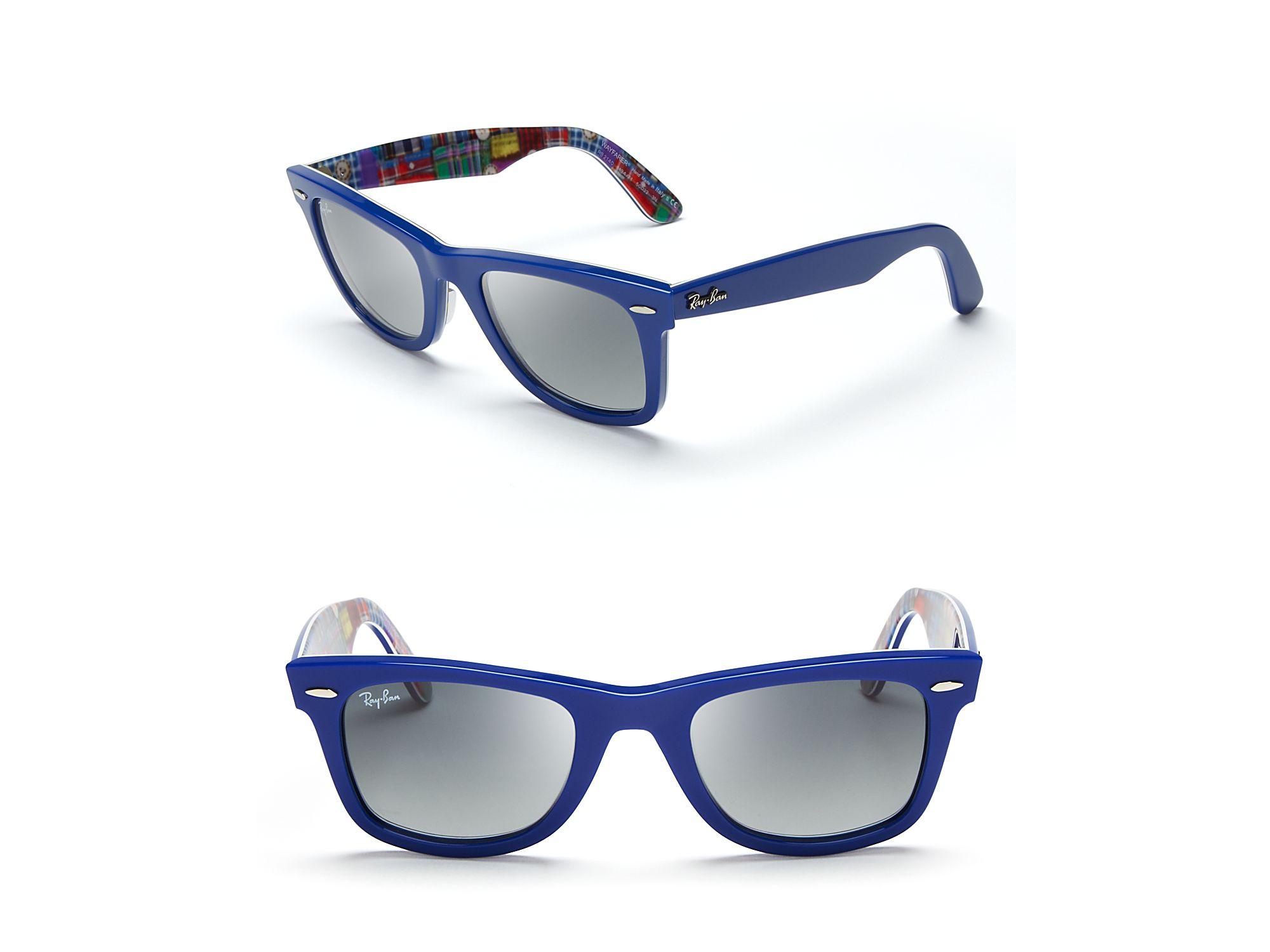 blue ray ban wayfarer sunglasses