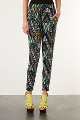 Topshop African Jersey Tapered Trousers in Multicolor (multi) - Lyst