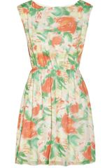 Alice + Olivia Matilda Floralprint Silk georgette Dress - Lyst