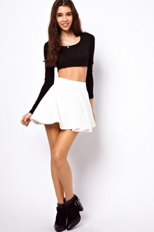 ASOS Collection Asos Skater Skirt in Rib - Lyst