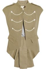 Boy by Band Of Outsiders Cotton and Linenblend Canvas Vest