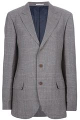 Brunello Cucinelli Checked Blazer - Lyst