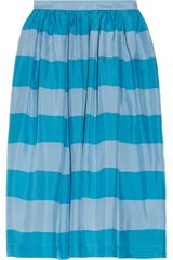 Burberry Brit Striped Silk Skirt - Lyst