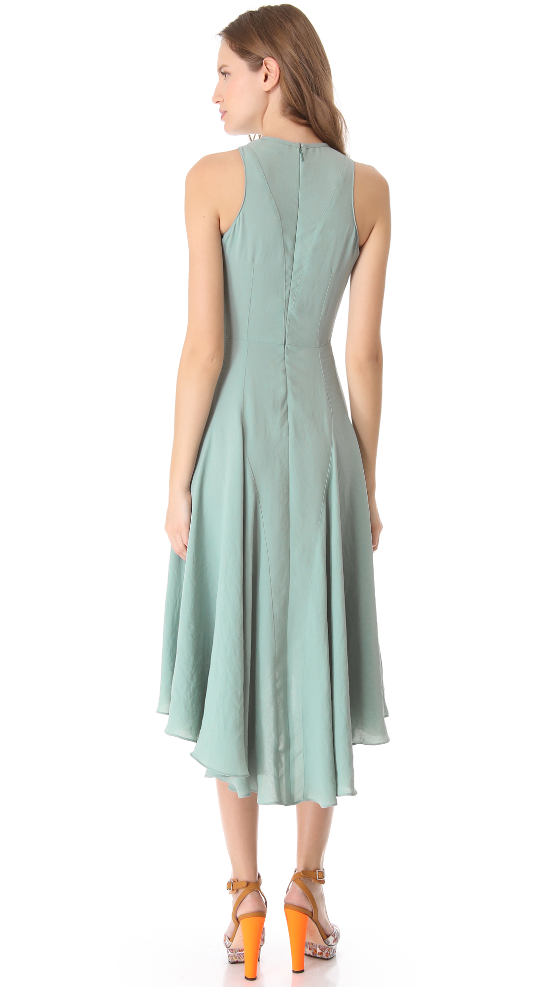 Lyst - Carven Sleeveless Crepe Dress in Blue
