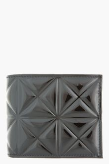 Gareth Pugh Black Patent Leather Embossed Bifold Wallet - Lyst