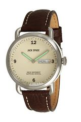 Jack Spade Buckner Cream Face Steel Case with Grain Leather Heavy Stitch Strap - Lyst