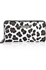 Marc Jacobs Deluxe Leopardprint Leather Continental Wallet - Lyst