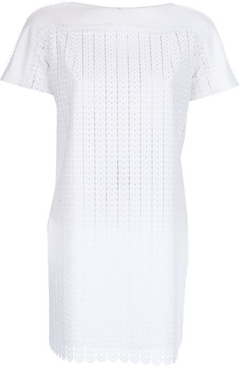 Paco Rabanne Lace Textured Dress - Lyst