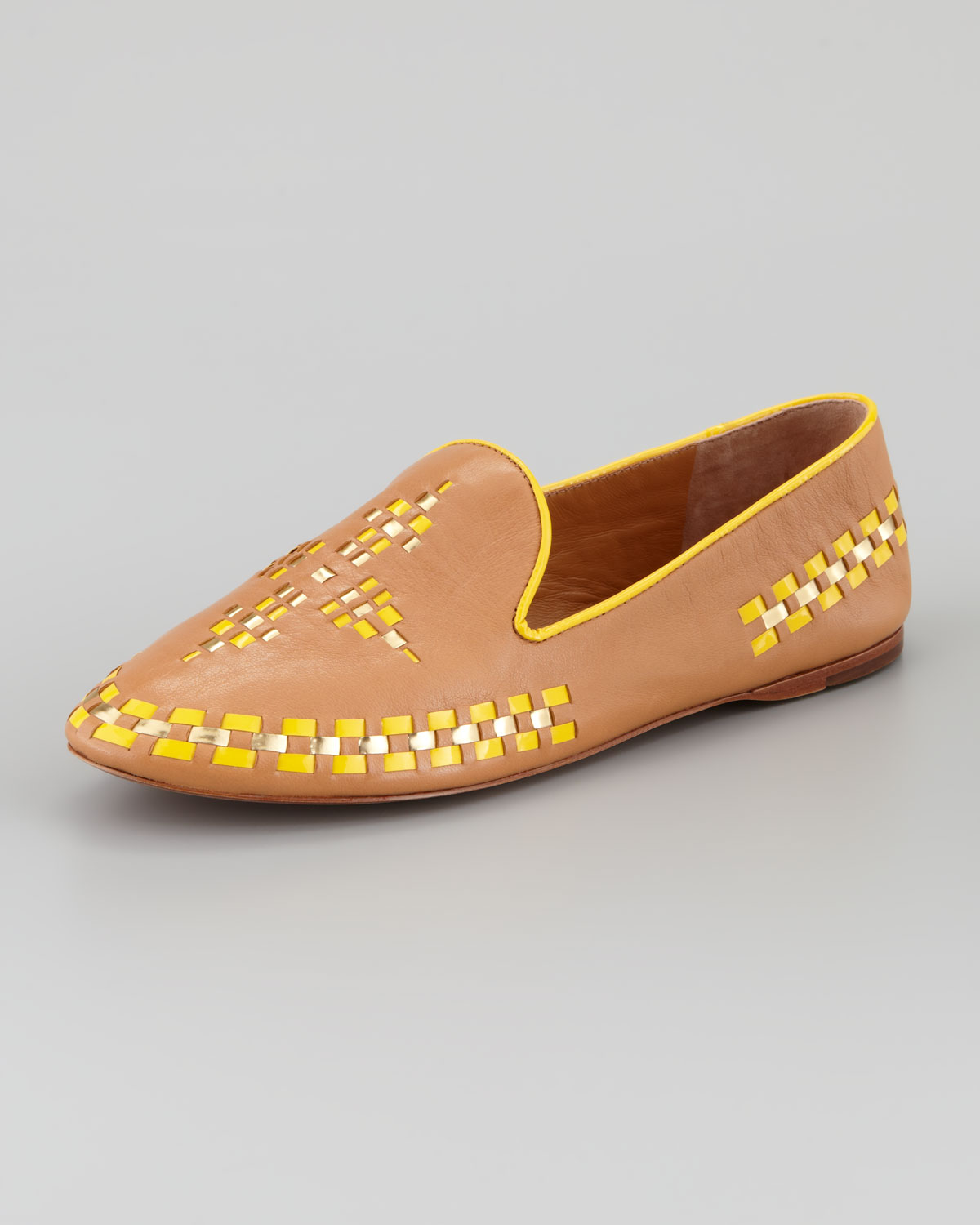 a7a0618b564 Lyst - Tory Burch Runway Marlow Leather Topstitch Trim Loafer in Brown