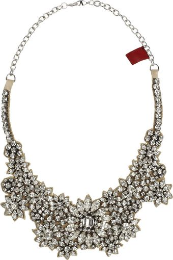 Valentino Jewel Flowers Swarovski Crystal Necklace - Lyst
