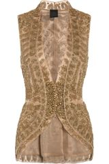 Vera Wang Embroidered Silk-Mesh and Organza Jacket