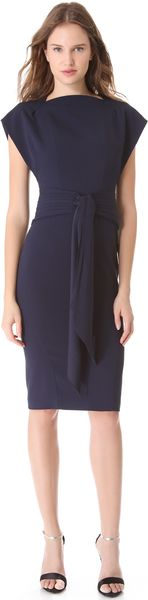 Zac Posen Sleeveless Dress with Cascade - Lyst